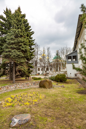 YAROSLAVL, RUSSIA - APRIL 27, 2017: The Holy Transfiguration Monastery. Built in the beginning of the 13th century. The Monument of history and culture Editorial