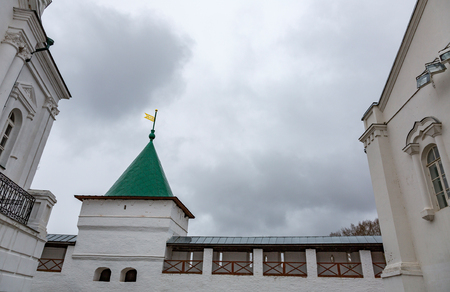 kostroma: KOSTROMA, RUSSIA - APRIL 27, 2017: Architecture of the Holy Trinity Ipatievsky Monastery. Built in 1330 Editorial