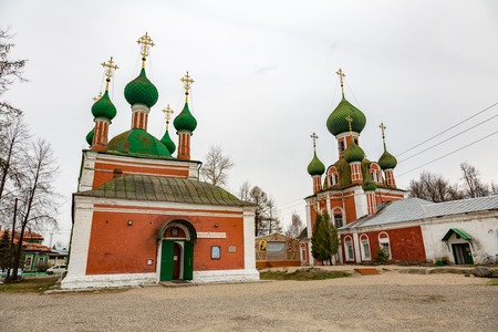 26: PERESLAVL-ZALESSKY, RUSSIA - APRIL 26, 2017: The building of the Church of Alexander Nevsky. Built in 1740 Editorial