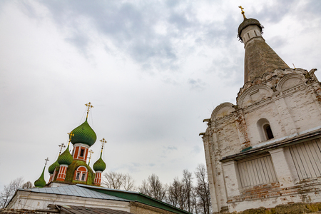 PERESLAVL-ZALESSKY, RUSSIA - APRIL 26, 2017: The building of the Church of Alexander Nevsky. Built in 1740 Editorial