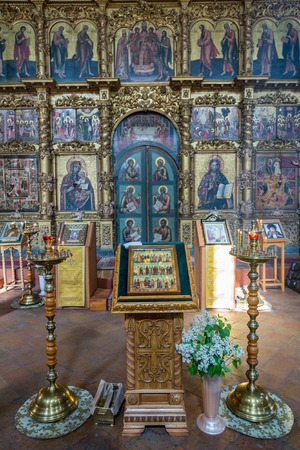 UGLICH, RUSSIA - JUNE 17, 2017: Interior of the Saviors Transfiguration Cathedral. The architectural monument was founded in 1710