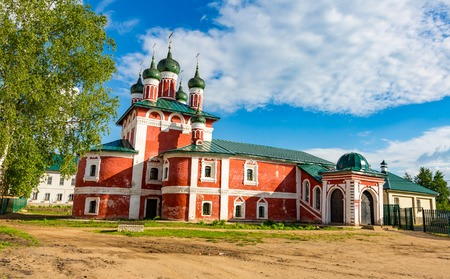 UGLICH, RUSSIA - JUNE 17, 2017: Exterior of the Church of the Smolensk Icon of the Mother of God. Architectural monument built in 1700