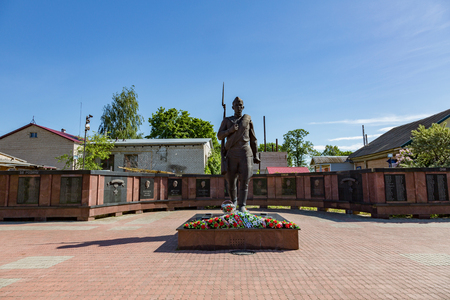 seconda guerra mondiale: MYSHKIN, RUSSIA - JUNE 18, 2017: Memorial complex dedicated to the 60th anniversary of the victory of Russians in the Great Patriotic War. Built in 2005