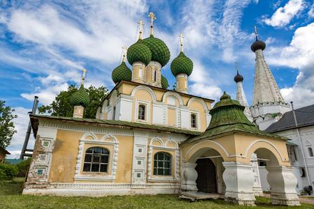 john the baptist: UGLICH, RUSSIA - JUNE 17, 2017: Facade of the Church of the Beheading of John the Baptist. Built in 1681