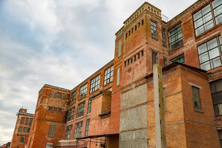 abandoned factory: Abandoned and forsaken industrial building of the early 20th century