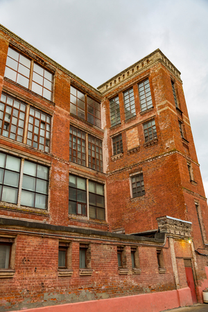 Abandoned and forsaken industrial building of the early 20th century