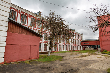 PAVLOVSKY POSAD, RUSSIA - OCTOBER 21, 2017: Brick buildings of the Labzin and Gryaznov Weaving Manufactures Association of the early 20th century