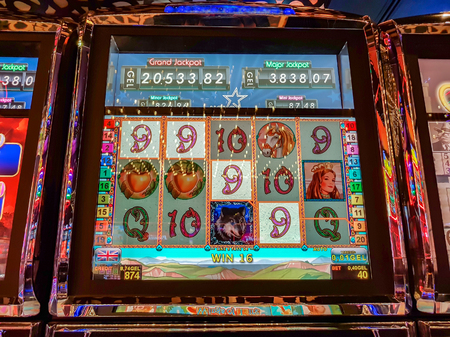 The modern slot machine brings winnings in the casino
