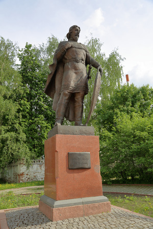 VLADIMIR, RUSSIA - MAY 18, 2018: Monument to Prince Alexander Nevsky. Opened in 2003. Sculptor Igor Chernoglazov