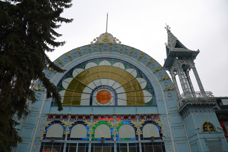 Lermontov Gallery. One of the oldest music and exhibition halls of the city. Pyatigorsk, Russia. Opened in 1901
