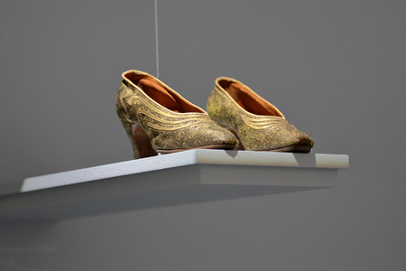 Retro Art Deco women shoes from the early 20th century Imagens