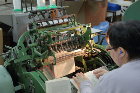 Specialized professional equipment for the manufacture of printed products in the printing house 版權商用圖片