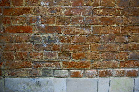 Fragment of a textured old brick wall in a loft style Stockfoto