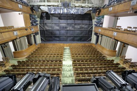 Moscow, Russia - August 25, 2019: Empty performance hall of the Moscow Chekhov Art Theater Редакционное