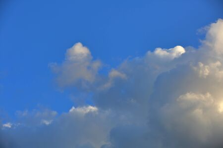 Picturesque textured clouds in the sky at the daytime