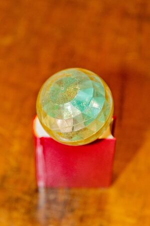 Magic ball with crystal faces for divination, games and witchcraft