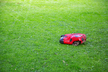 Robotic automatic lawnmower for garden improvement and grass trimming in the yard