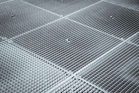 Iron stainless grating protects underground street fountain