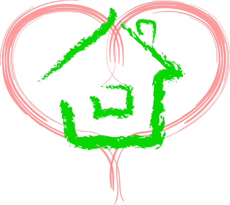 Sweet Home in doodle style