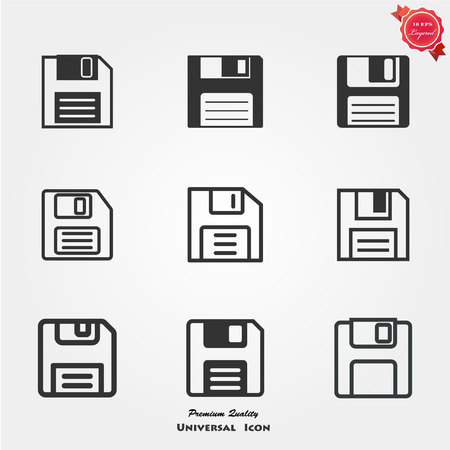 Diskette icons Illustration