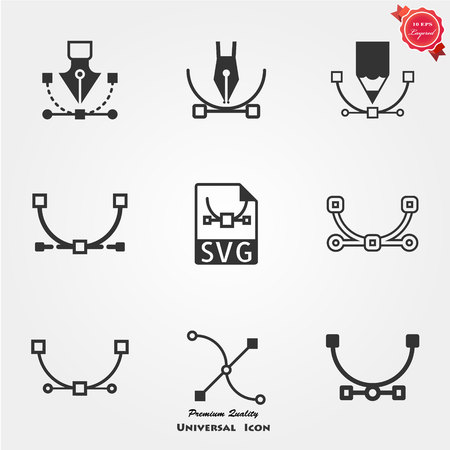 SVG file icons Stock Photo