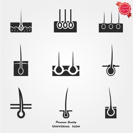 Icono de epidermis Ilustración de vector