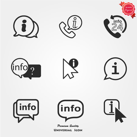 Info icons Stock fotó