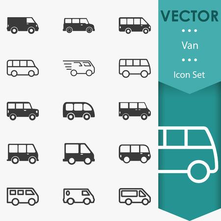 Van icons vector Illustration
