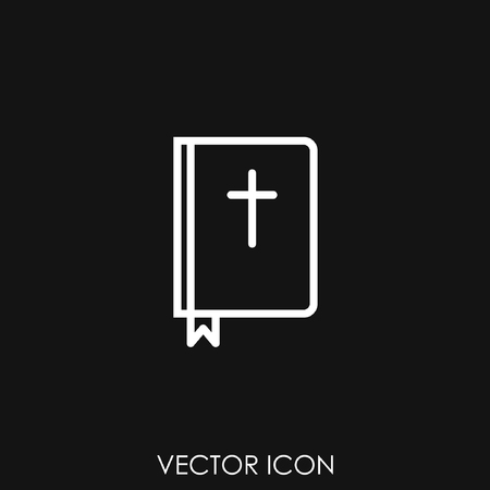Bible holy book with cross icon