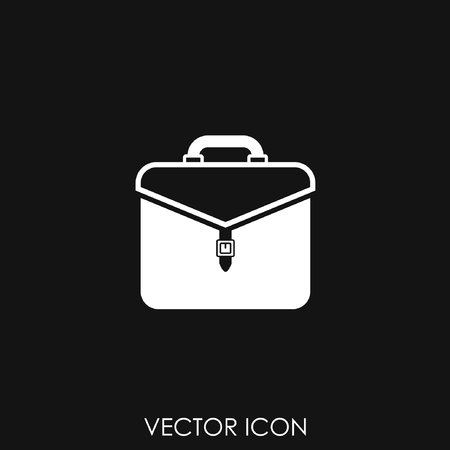 Business briefcase isolated icon vector