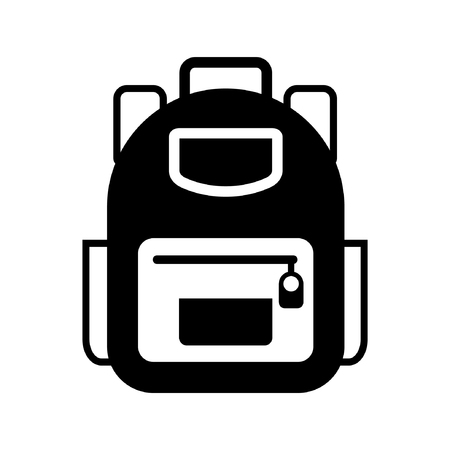 Backpack icon vector Illustration