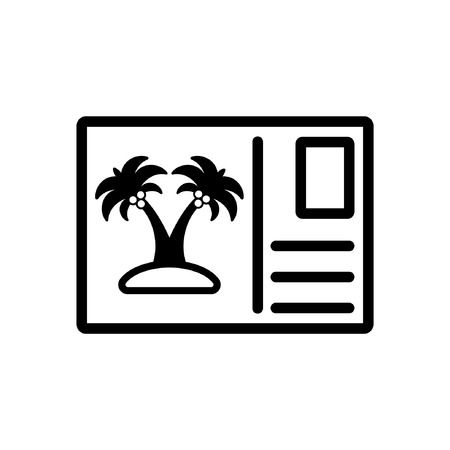Postcard icon - flat vector design