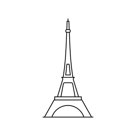 Eiffel tower icon in Paris