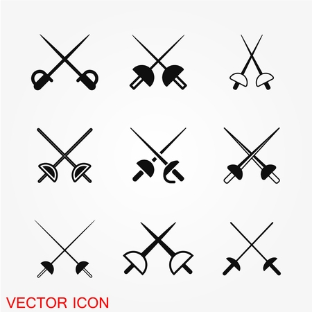 Fencing icon vector illustration on the background.  イラスト・ベクター素材
