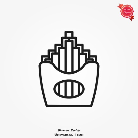 French fries icon vector, illustration for design.