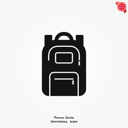 Backpack icon, collection of high quality logo for web site design