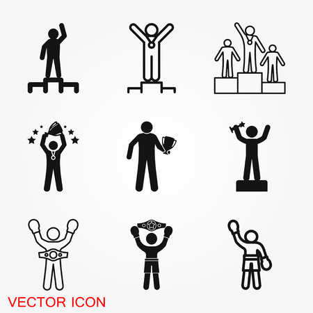 Champion vector icon, flat design for web or mobile app