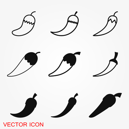 Chili pepper vector icon, illustration on background