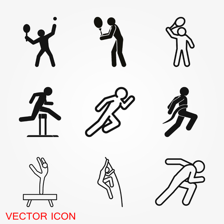 Athlete icon isolated on background vector illustration, sign design Vectores
