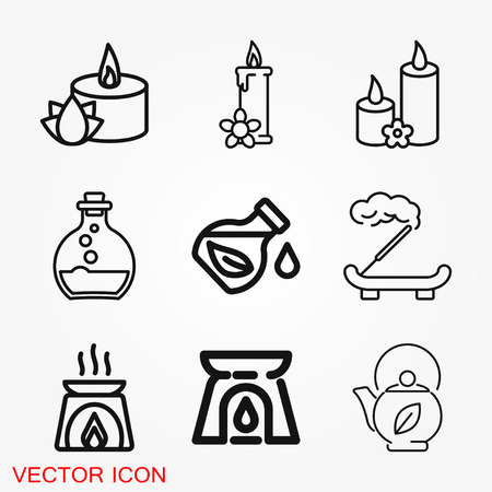 Aromatherapy icon. Concept illustration for web site. Sign, symbol, element. Illustration
