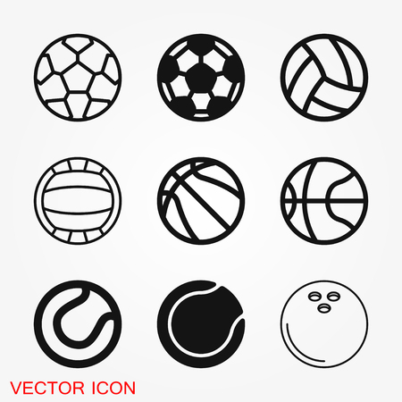 Sport ball icon. Flat vector illustration isolated on background, sign for design