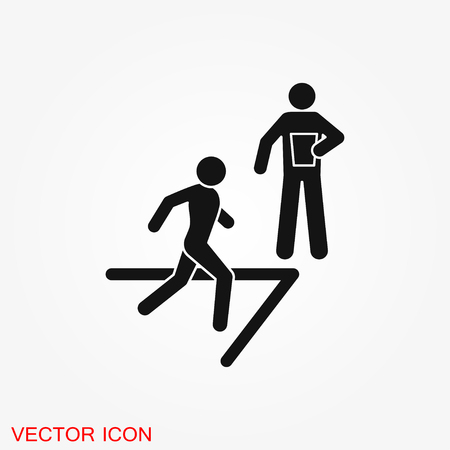 Coach icon vector, training and mentoring symbol 版權商用圖片 - 127409602