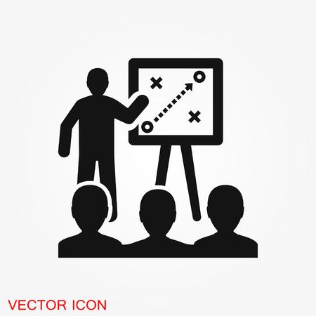 Coach icône vecteur, symbole de formation et de mentorat Vecteurs