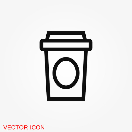 Coffee cup vector icon. Coffee drink symbol stock web illustration. Illustration