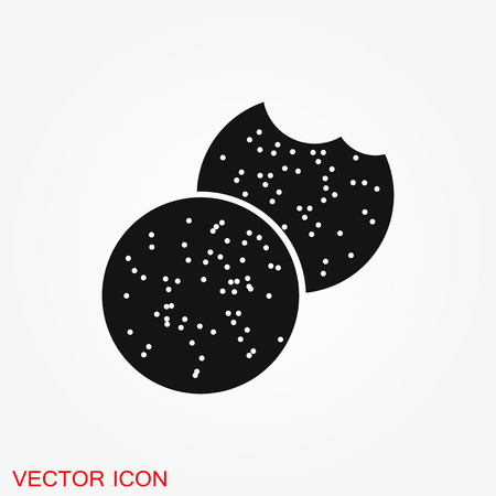 Cookie icon. Biscuit cookie or biscotti vector icon isolated on background