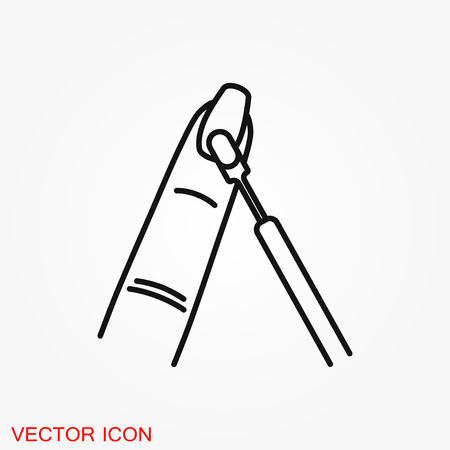 Nail care icon. Pedicure and manicure equipment. Isolated vector illustrations Archivio Fotografico - 112598960