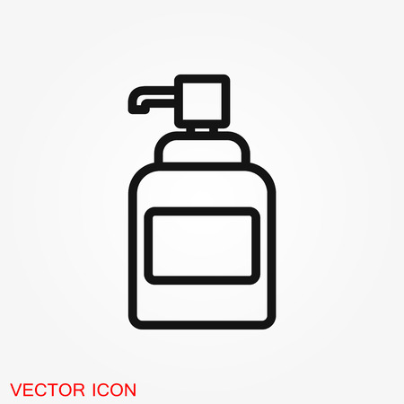 Face cream vector icon. Cosmetic cream sign. Flat illustration Ilustração