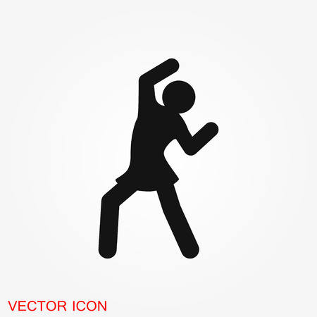 Dancing vector icon. Illustration on background sport dancing