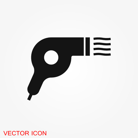 Hairdryer vector icon. Hair drying symbol, modern UI symbol  イラスト・ベクター素材