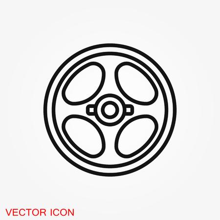 Dumbbell for gym icon, symbol for design, vector illustration